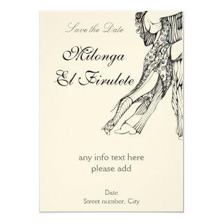 Tango Milonga Save the Date Card