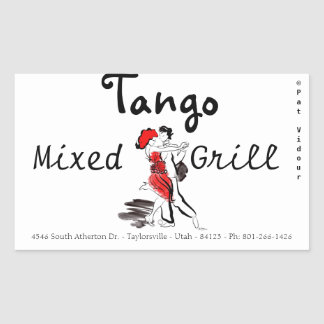 Tango Mixed Grill Rectangle Sticker