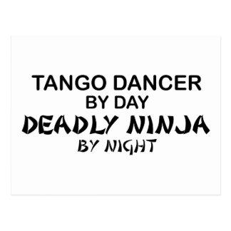 Tango Ninja mortal por noche Postales