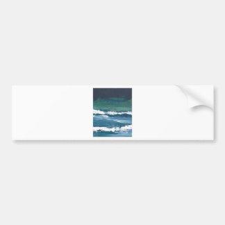 Tango of the Sea Ocean Waves Beach Decor Bumper Sticker