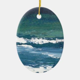 Tango of the Sea Ocean Waves Beach Decor Ceramic Ornament