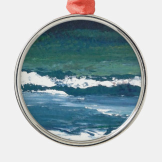Tango of the Sea Ocean Waves Beach Decor Christmas Tree Ornament