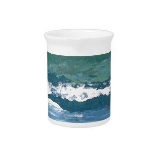 Tango of the Sea Ocean Waves Beach Decor Beverage Pitchers