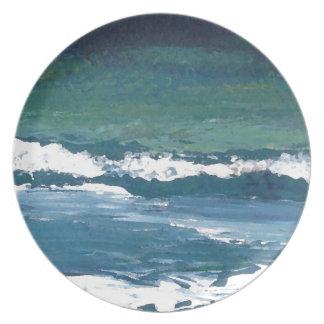 Tango of the Sea Ocean Waves Beach Decor Party Plates