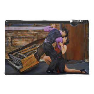 Tango on the Street Original Painting Travel Accessory Bag