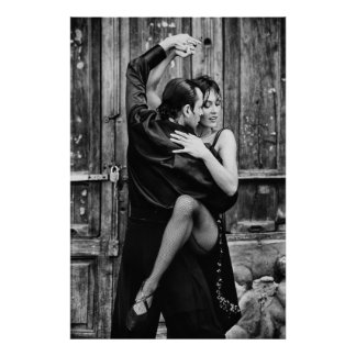 tango para el poster latino de la danza dos