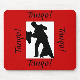 ¡Tango! Pares Mousepad - rojo de la danza de salón