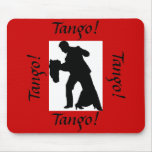 ¡Tango! Pares Mousepad - rojo de la danza de salón Tapetes De Raton
