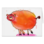 Tango Pig • Nate Perdue, Age 6 Greeting Card