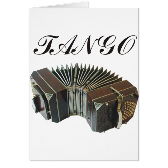 Tango Products & Designs! Argentina Music! Card