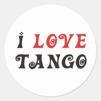 Tango Products & Designs! Round Sticker