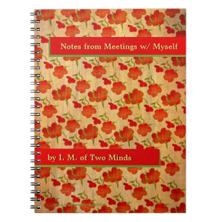 Tango Red Peonies on Gold Silk (Personalized) Notebook