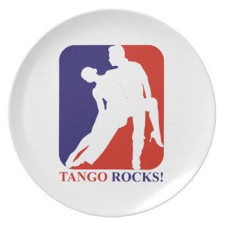 Tango rocks designs party plates