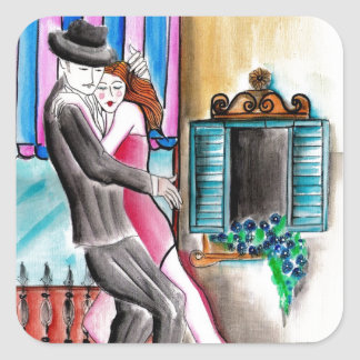 Tango Romance Square Sticker