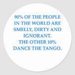 tango round stickers