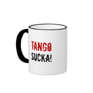 ¡Tango Sucka! taza de la guerra con los agujeros d