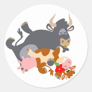 ¡Tango!! (toro y vaca del dibujo animado) pegatina