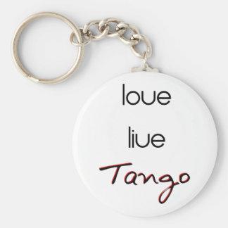 ¡Tango vivo del amor! Llavero Redondo Tipo Pin