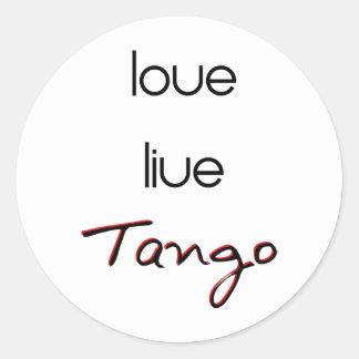 ¡Tango vivo del amor! Pegatina Redonda