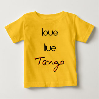 ¡Tango vivo del amor! Playera De Bebé