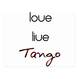 ¡Tango vivo del amor! Postal