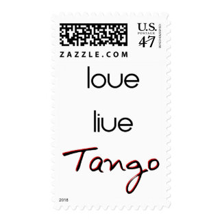 ¡Tango vivo del amor! Sellos Postales
