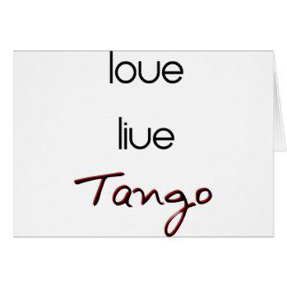 ¡Tango vivo del amor! Tarjeta De Felicitación
