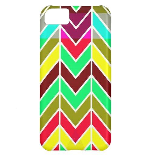 Tangram Chevron Pattern Cover For iPhone 5C