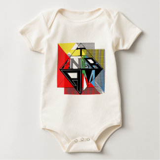 Tangram Design by: RokCloneDesigns  Multicolored T Baby Bodysuit