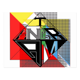 Tangram Design by: RokCloneDesigns  Multicolored T Postcard