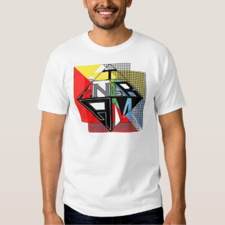 Tangram Design by: RokCloneDesigns  Multicolored T Shirt