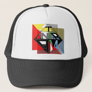 Tangram Design by: RokCloneDesigns  Multicolored T Trucker Hat