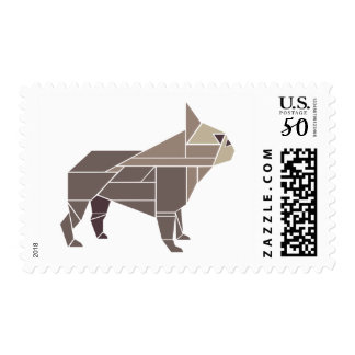 Tangram Frenchie, Brown Postage