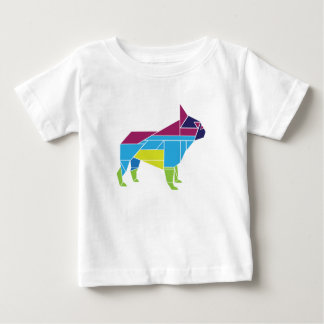 Tangram Frenchie, Multicolored Baby T-Shirt