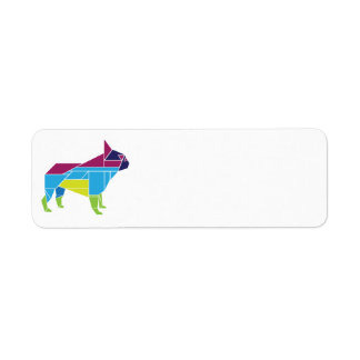 Tangram Frenchie, Multicolored Label