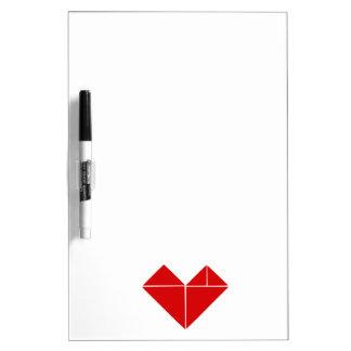 tangram heart dry erase board