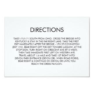 Tangram Heart Wedding Directions Card Black Gold