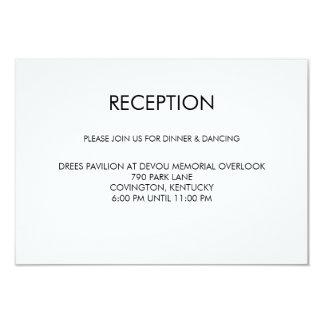 Tangram Heart Wedding Reception Card Black Gold
