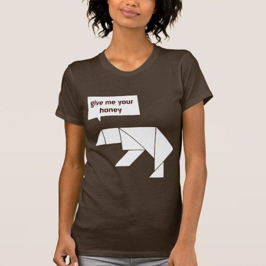 tangram polar bear give me your honey T-Shirt