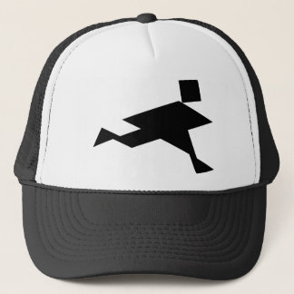 Tangram Running Person Trucker Hat