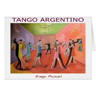 Tangueria 5 greeting card