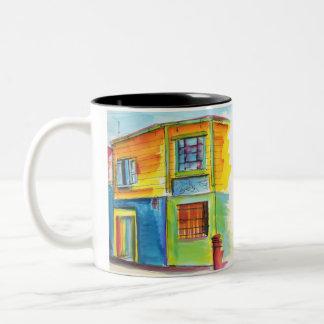 Tangueritos en La Boca Two-Tone Coffee Mug