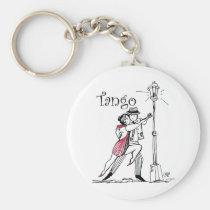 art, tango, cartoon, milonga, argentina, couple, street, dance, dancers, artsprojekt, drawing, ballroom dance, ballroom dancing, lantern, dancing, tanqueros, naive, Keychain with custom graphic design