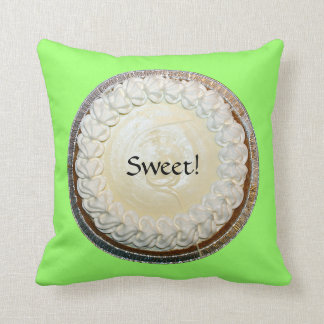 Tangy Key Lime Pie Fun Throw Pillow