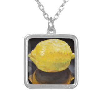 Tangy Tart Lemon Silver Plated Necklace