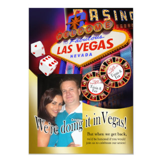 Tania and Eric Las Vegas Reception Card