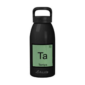 Taniya Name Chemistry Element Periodic Table Water Bottles