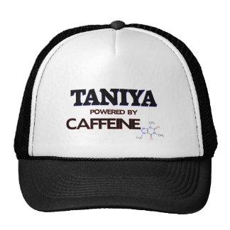 Taniya powered by caffeine trucker hat