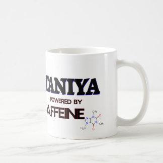 Taniya powered by caffeine coffee mug
