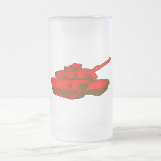 Tank 16 Oz Frosted Glass Beer Mug